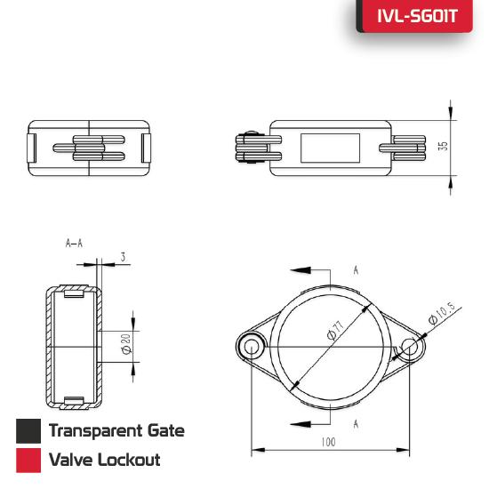Transparent Gate Valve Lockout supplier in Bangladesh.